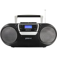 Groov-e Ultimate Bluetooth Boombox Portable CD & Cassette Player with DAB/FM Radio GVPS933/BK