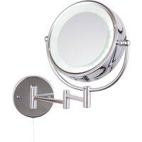 Apus Circular Magnifying Bathroom Mirror with Light