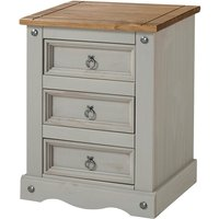 Halea 3 Drawer Bedside Cabinet - Grey