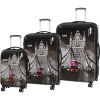Rock Montana Expandable 8 Wheel Hard Shell Spinner Suitcase Tower Bridge (3pc set: 55/72/82cm)