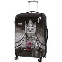 Rock 82cm Montana Expandable 8 Wheel Hard Shell Spinner Suitcase - Tower Bridge