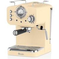 Swan SK22110CN Retro Pump Espresso Coffee Machine - Cream