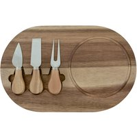 Wooden Cheese Board and Knife Set