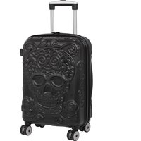 It Luggage Skulls 8-Wheel Single Expander Hard Shell Cabin Case - Black