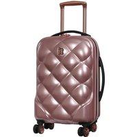 It Luggage St. Tropez Deux 8-Wheel Single Expander Hard Shell Cabin Case - Rose Gold