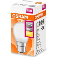Osram 40W Globe Frosted Filament Dimmable BC Bulb - Warm White