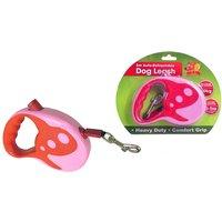 Benross 5 Metre Dog Retractable Lead - Pink