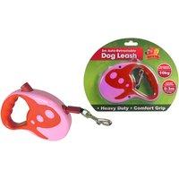 Benross 3 Metre Dog Retractable Lead - Pink