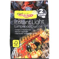 Bar-Be-Quick Instant Light Charcoal - 2pk