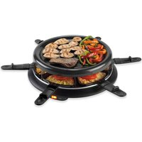 Giles & Posner Giles and Posner EK0767G 6pc Raclette Grill - Grey
