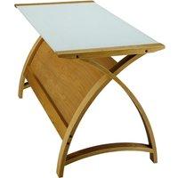 Judge Jual Helsinki Curve Oak/Glass Laptop Desk 900