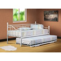 SleepOn Alicia Single Metal Day Bed Without Trundle White