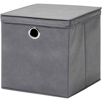 H & L Russel H&L Russel Extra Large Non-Woven Storage Box with Lid - Grey