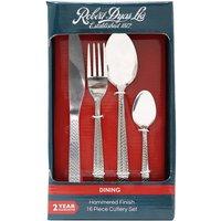 Robert Dyas 16-Piece Hammered Cutlery Set