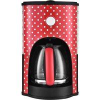 Kalorik KitchenOriginals TKG CM 1045 RWD 1.8L Classic Polka Dot Retro Filter Coffee Maker - Red