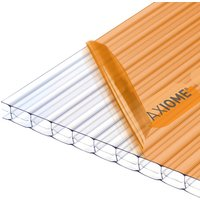 Axiome Clear 16mm Multiwall Polycarbonate Roofing Sheet - 1250 x 4000mm