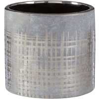 Premier Housewares Embra Ceramic Planter in Grey/Silver Finish - Large