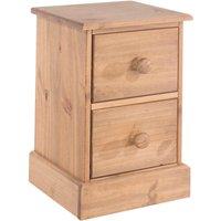 Coleford 2 Drawer Petite Bedside Cabinet - Natural Pine