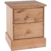 Coleford 2 Drawer Bedside Cabinet - Natural Pine