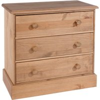 Coleford 3 Drawer Chest of Drawers - Natural Pine