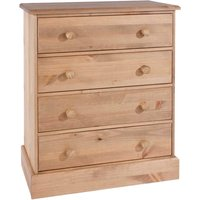 Coleford 4 Drawer Chest of Drawers - Natural Pine