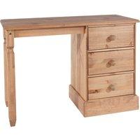 Coleford Single Pedestal Dressing Table - Natural Pine