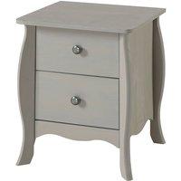 Parisian 2 Drawer Bedside Cabinet - Grey