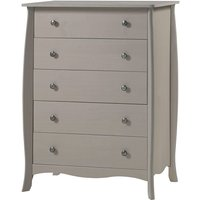 Parisian 5 Drawer Chest of Drawers - Grey