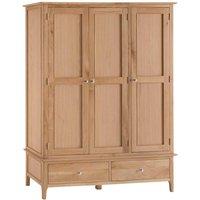 Cranbrook Natural Oak 3 Door Wardrobe