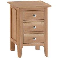 Cranbrook Natural Oak 3 Drawer Bedside Table