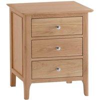 Cranbrook Natural Oak Extra-Large 3 Drawer Bedside Table