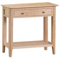 Cranbrook Natural Oak Console Table
