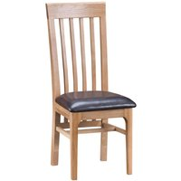 Cranbrook Natural Oak Slat Back Chair