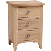 Golston Light Oak 3 Drawer Bedside Cabinet