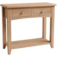 Golston Light Oak Console Table