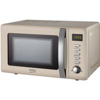 Beko 800W 20L Retro Compact Microwave - Cream