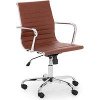 Julian Bowen Gio Brown & Chrome Office Chair