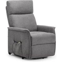 Julian Bowen Helena Rise & Recline Chair - Charcoal Fabric