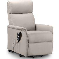 Julian Bowen Helena Rise & Recline Chair - Pebble Faux Leather