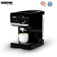 Geepas 1140W Espresso Machine with 15-Bar Pump and Milk Frother - Black