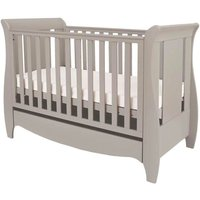 Tutti Bambini Roma Mini Sleigh Cot Bed with Drawer - Truffle Grey