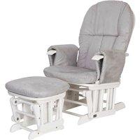 Tutti Bambini Reclining Glider Chair & Stool - White/Grey