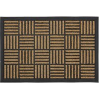JVL Vienna Heavy Duty Rubber Backed Scraper 40 x 60cm Entrance Door Mat - Squares