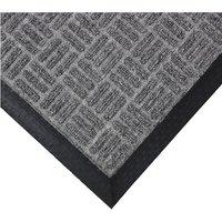 JVL Firth Carpet Rubber Backed Entrance 40 x 70cm Door Mat - Grey