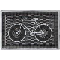 JVL 40 x 60cm Havana Welcome Rubber Pin Door Mat - Bike