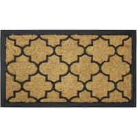 JVL 40x70cm Comfort Rubber Scrape Coir Doormat - Round Pattern