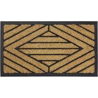 JVL 40x70cm Comfort Rubber Scrape Coir Doormat - Square Pattern