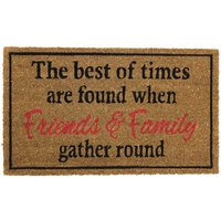 JVL Friends and Family Latex Backed Entrance Door Mat - 40x70cm