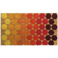 JVL 40x70cm Bright Prints Latex Backed Doormat - Hexagon
