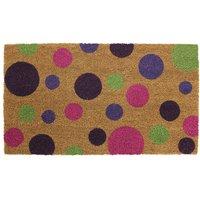 JVL 40x70cm Bright Prints Latex Backed Doormat - Spots